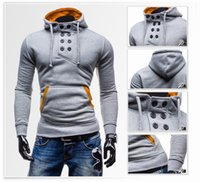Wholesale Amy The new double breasted coat sleeve head men trade short slim Velour Hoodie for three colors