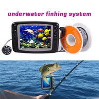 Wholesale 15m m cable underwater camera for fishing video camera with monitor fishfinder kit LED light fish finder wide angle