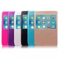 Pleine fonction intelligente Body Cover sommeil / réveil pour iPad mini-Case 4 PU cuir Cases + Crystal Clear TPU Retour Avec fentes de cartes et Fenêtre