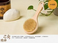 bath and body brushes - Medium size cm wooden bath brush shower body skin spa health care and massage brush drop in bath