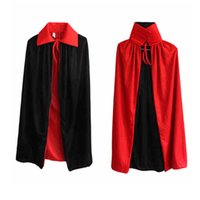 Wholesale Black Red Cape Halloween Cosplay Costume Party Clothing Vampire Cloak Halloween Fancy Dress Bloodsucker Cape Cloak Costume