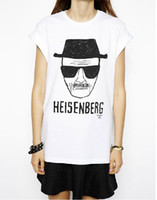 Cheap New 2015 Fashion Breaking Bad T Shirt Women Clothing Heisenberg Print Short Sleeve Punk T-shirts Brand Tops For Women Plus Size