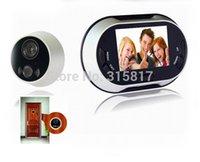 Wholesale 3 quot LCD Door Viewer take picture doorbell pixels Built in memory digital peephole viewer digital peephole camera