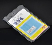 Wholesale Dorabeads Clear Vertical Plastic ID Card Badge Holder x8cm quot x3 quot sold per pack of