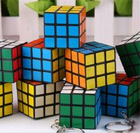 rubik's cube - HOT sale Magic Cube keychain Rubik s Cube Puzzle Magic Game Toy Adult Children Educational Toys key chain D465