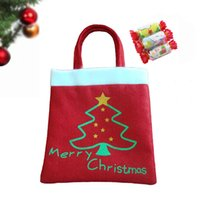 Wholesale Cute Christmas Tree Pattern Gifts Candies Bag Pocket Festival Decoration Decor Supplies H15986