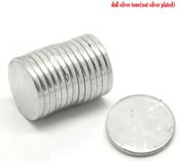 Beijia 20PCs Ton Argent Super Fort en Néodyme, disques magnétiques 18 mm(3/4quot;)