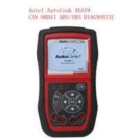 Wholesale 2015 New Arrival Autel Autolink AL619 ABS SRS CAN OBDII Car Diagnostic Scan Tool Check Engine ABS SRS warning lights