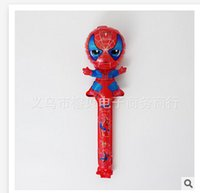 Wholesale 19 styles Balloons Sticks Spiderman christmas Princess Party ballons Latex Cheering Balloons Inflatable toys Party Decoration Supplies R72