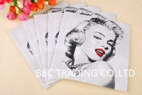 Wholesale Marylin Monroe Beauty Style Napkin Supply Snowman Style quot cm Lunch Napkins Food grade Material Paper