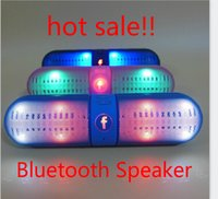 speaker for mobile phone - 2015new BT808L Speaker Wireless Mini Bluetooth Speaker LED light Hands free supports NFC speaker for iphone samsung S6 FREE SHIP YEYS