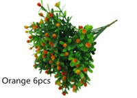 Cheap Free shipping 6pcs artificial Green plants Small strawberry with water plants bowyer silk flower home decor