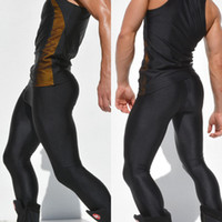Wholesale 2015 the new AQUX tight stretch fitness pants sports riding running training for men light trousers