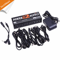 Wholesale Aluminum Case way output Effect Pedal Power Supply with Blue Led indicator Light and Portable