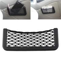 Wholesale Car Net Organizer Pockets Net car storage second generation Automotive mesh Bag With Adhesive Visor cm x cm