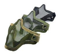 airsoft masks mesh - Half Lower Face Metal Steel Net Mesh Hunting Tactical Protective Airsoft Mask Gofuly