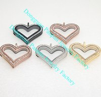 Wholesale Panpan support for blending sharp heart locket living locket with crystals
