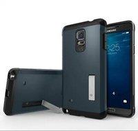 Wholesale 2014 New Tough ARMOR SPIGEN SGP Case For Samsung Galaxy Note note4 N9100 Slim Armor Cellphone Back Cover