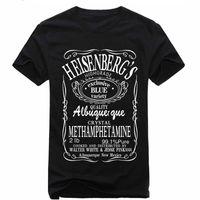 Wholesale New Breaking Bad Heisenberg Men T Shirts I Am The One Who Knocks Shirt Letter T Shirt Cotton Tee Camisetas S XL Man Clothing