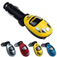 Wholesale Fashion Beetles Shape LCD Wireless FM Transmitter Car Kit MP3 Player Support USB SD MMC Remote Controll Car Music Player A29
