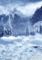 Wholesale Newest Snow Cedar Mountain Openworld Cameras Photography Backdrops Cloth Wall Ft Ft A