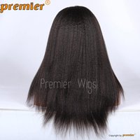 kinky straight full lace wigs - Indian Remy human hair wig quot quot Kinky Straight Natural Color Swiss Full Lace Wigs Human Hair Wig