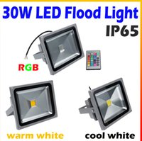 Wholesale W LED Floodlight White warm white RGB control IP65 waterproof AC V Outdoor Lamp Lighting