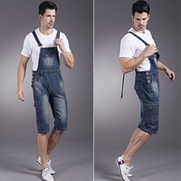 bib overall buckles - S XL XL XL Plus Size Male Denim Jumpsuit Knee Length Men Skinny Bib Overalls Shorts Buckles Bodycon Combination Jeans Homme