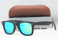 beach steel - 52mm High Quality Polarized Matt Black Frame Sunglasses glass Lens Steel Hinge Beach Sunglass N