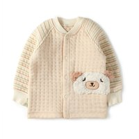 bear certificates - GOTS Certificate organic cotton round neck baby pullover triple thermal fabric baby bear head long johns