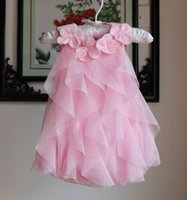 Wholesale Little Princess Baby One Piece - Infant Baby Girls Tulle Lace Rompers Little Baby Girl Summer Floral Collar One piece 2016 Toddler TuTu Princess Cake Romper babies clothes