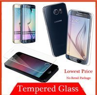 protective film - For iphone plus Premium Tempered Glass Screen Protector Protective Film For iPhone S Samsung Galaxy S6 Edge Plus S5 S4 Note MOQ