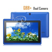 Wholesale In stock Tablet PC inch Q88 Allwinner A13 dual core Dual Camera GHz Android wifi M G