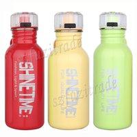 Wholesale 600ML Children Sport Anti leakage Drinkware Water Bottles Kid Stainless Steel Cup With Large caliber Drinking Straw Jug AKA00012