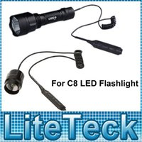 Wholesale Remote Mouse Tail Wire Line Extended Pressure Switch for C8 LED Flashlight Torch Lamp Aluminum Alloy