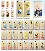 Wholesale Iphone6 Case Cartoon Christmas minion Simpson Frozen star wars Snow White Spiderman Mermaid soft TPU PC Cases cover for iphone S plus S