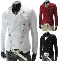 Men korean men fashion - New foreign trade men s fashion supplier EBAY Korean fashion European style double breasted suit jacket Slim sportsman coat