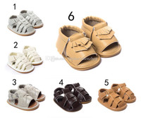 Wholesale 6 Color Baby moccasins PU sandals genuine leather first walker sandals baby newborn shoes Tassels maccasions shoes B