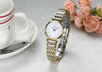 Wholesale 2015 New thin strip crown qin authentic fashion casual waterproof watch Ms female form quartz watch