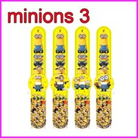watch slap - Despicable Me slap watch minions rd slap watch silicone digital Watch Rubber film movie cartoon quartz kid Jelly gifts toys