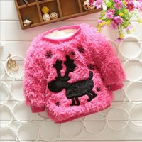 Wholesale 2016 Real Rushed Pullover t t Spring Autumn Korean Sweater Female Cartoon Children Children s Elk Wear Thick Sweaters