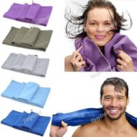 Wholesale Quick Drying Coolmax Microfiber Travel Towel Outdoor Cycling Finshing Swimming Purple Blue Army Green Royalblue Grey All Color