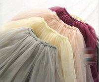 Cheap children girls skits Best girls lace veil skirt