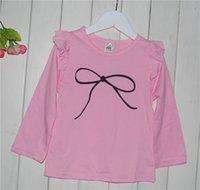 Wholesale Korean latest design cotton long sleeves blouse gilrs clothing