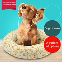 Wholesale Dog House Soft Warm Dog Bed kennel Plush Nest Mat For Pet nest Puppy Cats Non adhesive hair Small and Medium pet dedicated