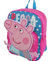 Wholesale Pink Blue Color Cute Cartoon Animal Children School Bags for Boys Girls Quality Canvas Child Backpack