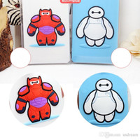 Wholesale Promotions Big Hero Cute Baymax Cartoon lage tag PVC card cover hold kids toy Baggage licensing Tagging Supplies for Christmas