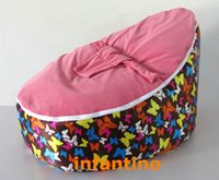 bean bag chairs for kids - Butterfly with pink seat bean bag chair for kids baby feeding seat