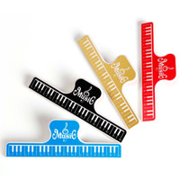 Wholesale Music Book Clip Acrylic Musical Notes Style Book Page Holder L Size Color Assorted