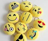 action cushion - Cute Lovely Emoji Smiley Plush for Mobile bag pendant action figures Stuffed Plush Toys cm Emoji Smiley Cartoon Cushion Keychain